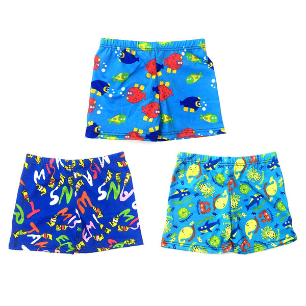 1 Stücke Beach Swimwear Shorts Alter 3 bis 8 Jungen Sommer Schwimmen tragen Cartoon gedruckt Kleinkind Baby Kind Kind Badehose Badeanzug