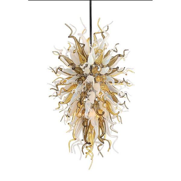 Küche Dekor Chihuly Inspiriert Kronleuchter Neue Ankunft Murano Glas Farbige Bernstein Kristall Moderne Anhänger Leuchte