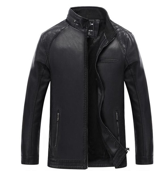 Autumn and winter new men's leather Slim collar short paragraph PU leather jacket locomotive trend men's leather jacket