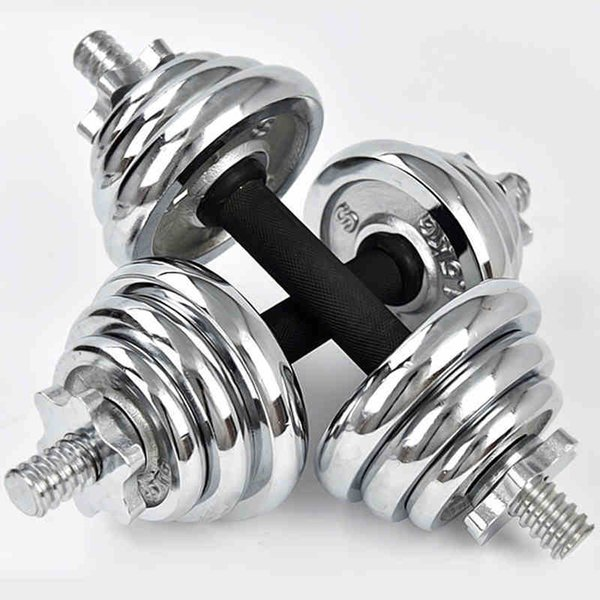 CHAOKAI 10kg Adjustable Electroplating Weights Man Rubber-covered Dumbbell Set Barbell Home Gym Fitness Training Weigh