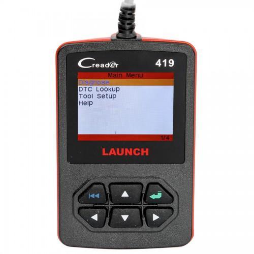 Lettore di codici di scansione diagnostici auto OBDII / EOBD Hot Launch CReader 419 fai da te