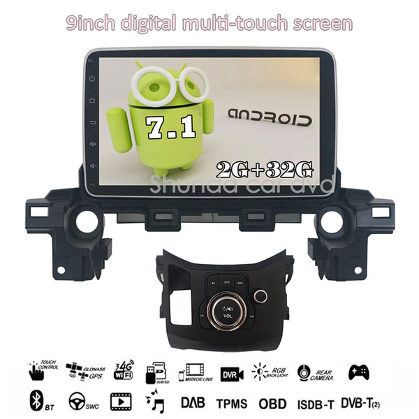 SHUNDA 9inch Android 7.1 T3 Car DVD player for MAZDA CX-5 2018 with 3G 4G WIFI BT SWC GPS Navigation Radio RDS Stereo Map