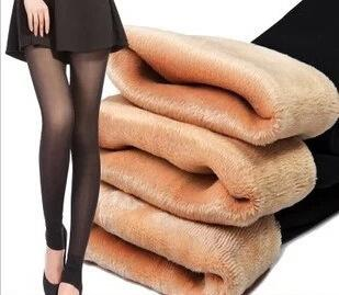 108d1f8ff039 2019 New Sexy False Sheer Fleece Stretch Women Footless Tights ...