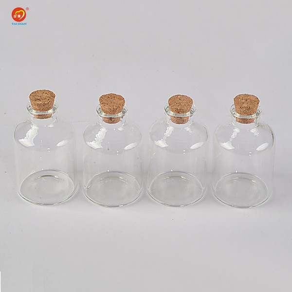 45ml Transparency Glass Bottle With Corks For Wedding Holiday Decoration Christmas Jars Gifts Cute bottle Corks Cap 12pcs