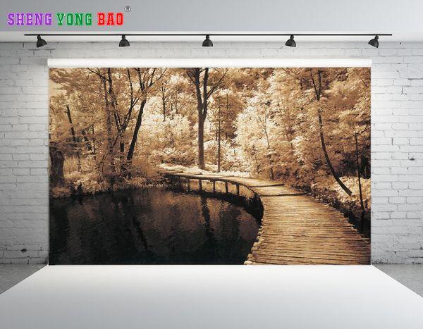 SHENGONGBAO Vinyle Personnalisé Paysage thème Vinyle Photographie Décors Prop Personnalisé Photographie Contexte NTZP-120