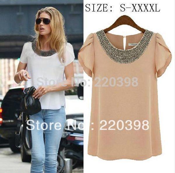 vente chaude nouvelle mousseline de soie femmes blouse recadrée blusa néon femmes vêtements haute rue casual moda camisa 7 taille S-4XL
