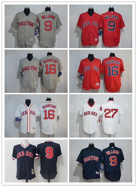 new styles f3d87 c672f 2019 Custom Men'S Women Youth Majestic Boston Red Sox Jersey #9 Ted  Williams 27 Carlton Fisk Home Red Grey White Kids Girls Baseball Jerseys  From ...