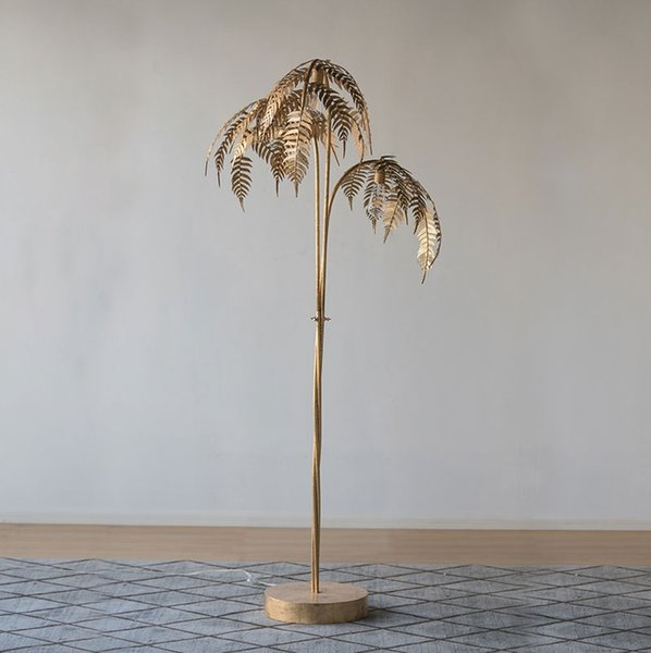 2019 180cm Metal Palm Tree Floor Lamp With Golden Finish 3 Light Gold Tree From Hogon 1278 86 Dhgate Com