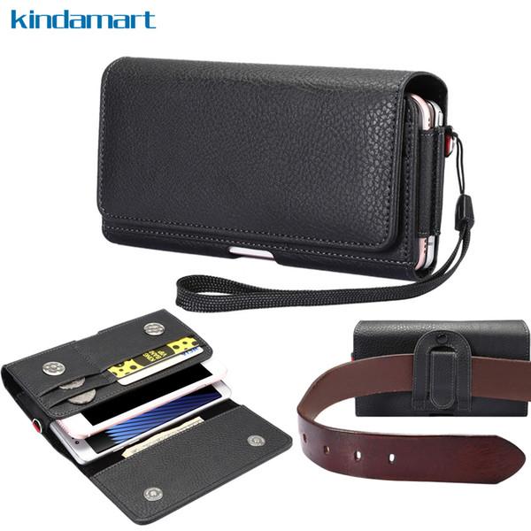 Borse a tracolla con doppia tasca Custodia con fondina per Samsung Galaxy S8 Plus S8 A7 J7 Iphone 6s 6 7 Plus Custodia a portafoglio con cerniera