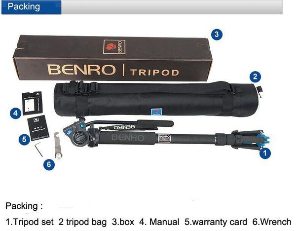 Benro A49TDS4 Sport Vogelbeobachtung Serie Monopod Kit Stativ Anzug Für Video DSLR Kamera Recorder Unterstützung Rahmen Großhandel
