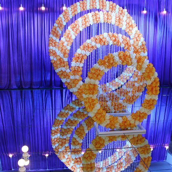 Новый DIY свадебный реквизит железное кольцо полка искусственный цветок стены сте
