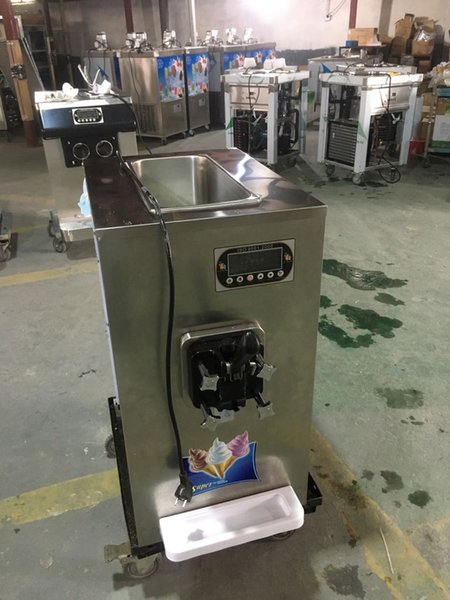 ETL CE Free shipment to door desktop mini SLIM soft ice cream machine countertop slim design soft ice cream machine with refrigerant