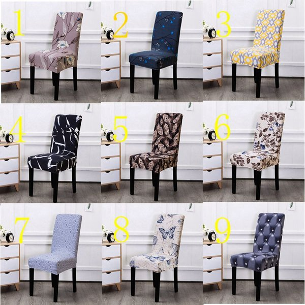 Marvelous Spandex Stretch Dining Chair Coves Elastic Seat Chair Covers Painting Slipcovers Restaurant Banquet Hotel Home Decoration Gray Chair Slipcover Wedding Uwap Interior Chair Design Uwaporg