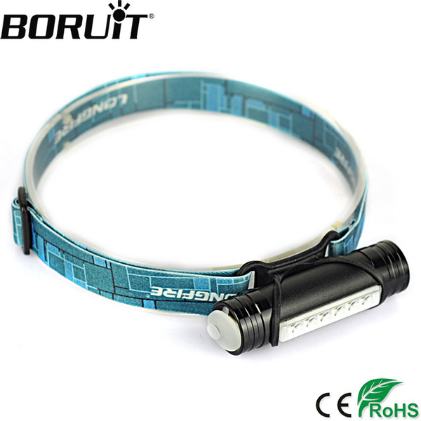 Boruit L811 800lm 6 Led Mini Headlamp 3 -Mode Flashlight Usb Rechargeable Headlight Hunting Fishing Head Torch Built -In Battery