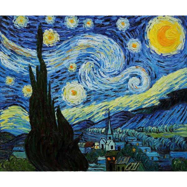51 Auf Ölgemälde comDhgate Von Van Leinwand Moderne Kixhome101 De Vincent Sternennacht Großhandel Wanddekor Kunst dhgate Gogh Handgemaltes HI2YD9WE