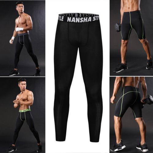 2018 summer men thermal compression tight base layer sport joggers trousers fitness pants running sports cycling outfits pants thumbnail