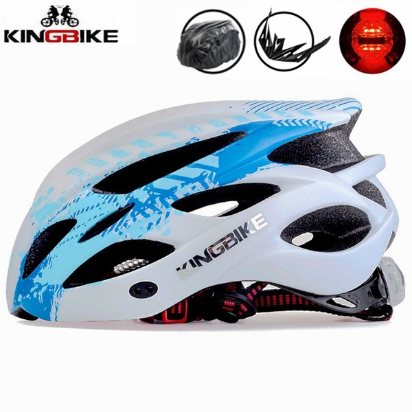 KINGBIKE Cycling Helmet Women Men Bicycle Helmet Road Mountain With Visor MTB Bike Helmets Security Taillight ciclismo