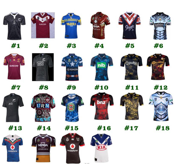 22 style Rugby League New Zealand Super Rugby Union Crusaders High-temperature heat transfer printing jersey Rugby Shirts drop ship