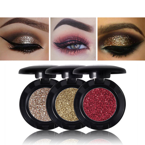 MISS ROSE Single Glitter Eyeshadow Professional Gold Eye Shadow Powder Fashion Sparkly Eyes Makeup Palette 24 Color Options 1.8g