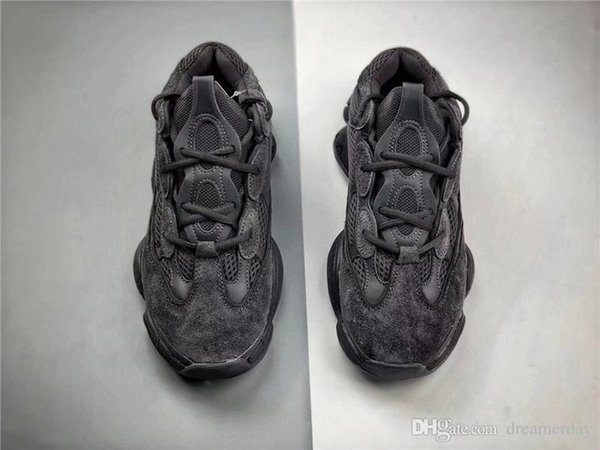ff1cc0fe9f6c 500Y eezy Utility Black Kanye West 2018 Super Moon Yellow Running Shoes 3M  2018 Joint Limited