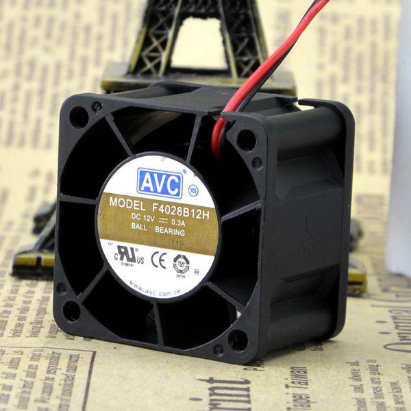 For Original AVC F4028B12H 4028 4CM 4cm 12V 0.3A CPU Double Ball Cooling Fan
