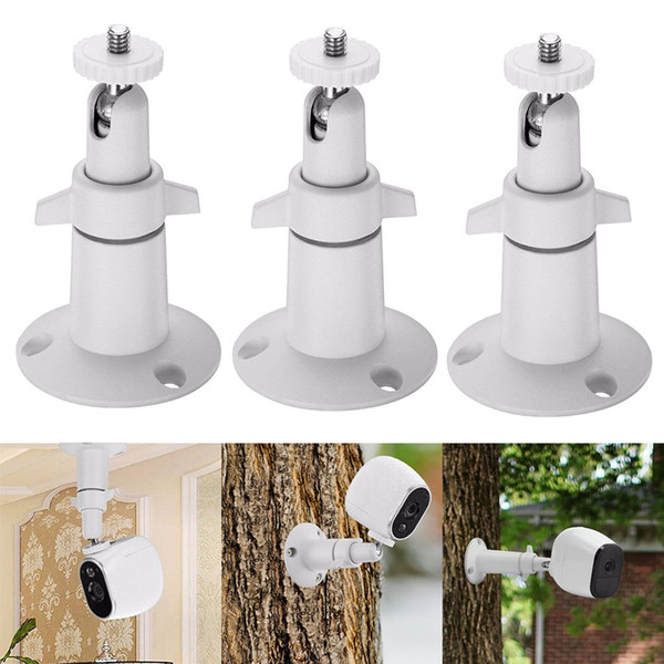 3pcs Dome Brackets Security Monitor Camera Wall Mount Adjustable Indoor Outdoor Cam for Arlo Pro Cameras