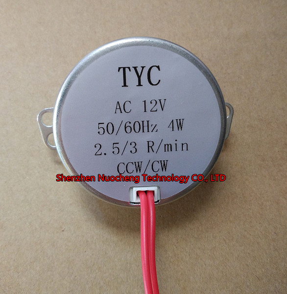 top popular Brand new 50mm permanent magnet synchronous motor TYC-50 12V 4W 2.5-3RPM micro AC motor micro wave Lamp Lighting motor~ 2021