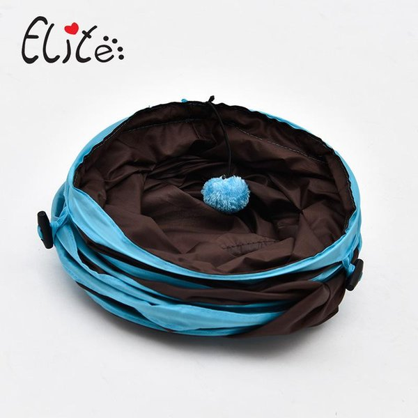 Funny Cat Tunnel Toy plegable 3 hoyos Dog House Toys Indoor Outdoor Creative Pet Training Plaything Venta caliente 23yl C