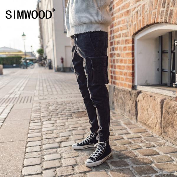 Großhandel Marke Casual Men Hosen 2018 Winter Lange Dicke Cordhosen Männer Skinny Trouser Baumwolle Plus Size Jogginghose 180455