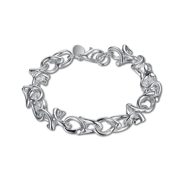 Alta qualità! Bracciale ramoscello Bracciale in argento 925 JSPB042Beast regalo bracciali argento uomini e donne placcati in argento