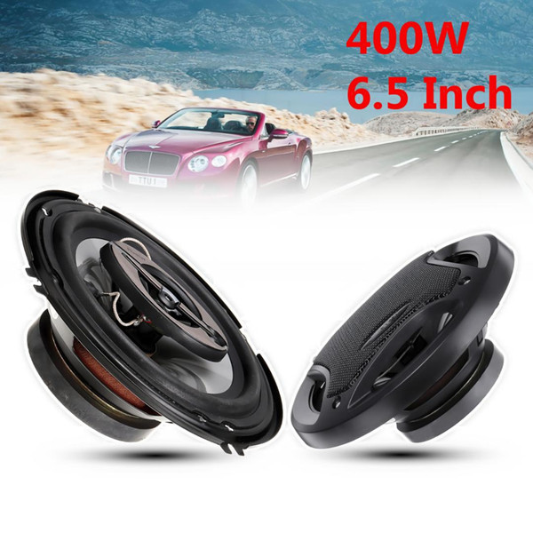 2pcs 6.5 inch 400W Car Speaker and Subwoofer HIFI Speaker Car Rear / Front Door Audio Music Stereo Coxial Speakers System