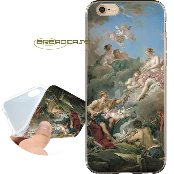 Vintage Painting Fundas Clear Soft TPU Silicone Phone Cases for iPhone 10 X 7 8 6S 6 Plus 5S 5 SE 5C 4S 4 iPod Touch 6 5 Cover.