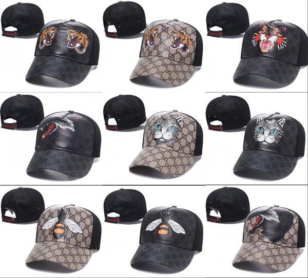 2018 hot Big head tiger cap golf preda bone sun set basket berretti da baseball hip hop cappello in pelle cappelli di snapback per uomo donna casquette gorras