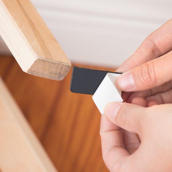 Adhesive Furniture Chair Pad Table Mat Non Slip Rubber Feet Hardwood Floor Protectors Pack of 6