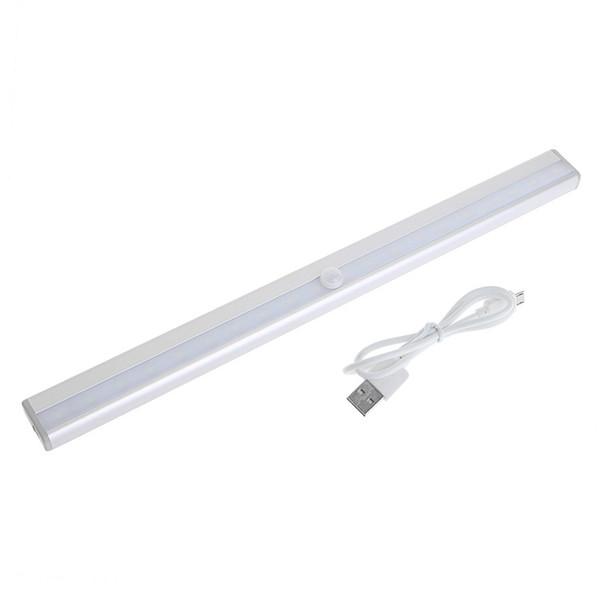 USB 20 LED wiederaufladbare automatische unter Kabinett Licht PIR Motion Sensor Lampe