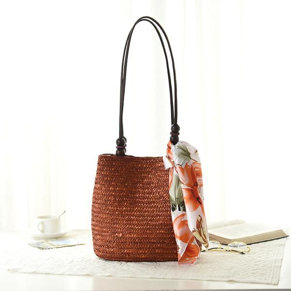 4 Color Women's Bag Beach Woven Bags For Summer Travel Womens Designer Shoulder Bag Ladies Knitting Women straw bag Handbags D18101303