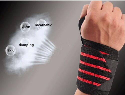 2pcs Sport Wristband Gym Fitness Weightlifting Dumbbell Barbell Protection Bandages Weight Lifting Hand Support Wrist Wrap