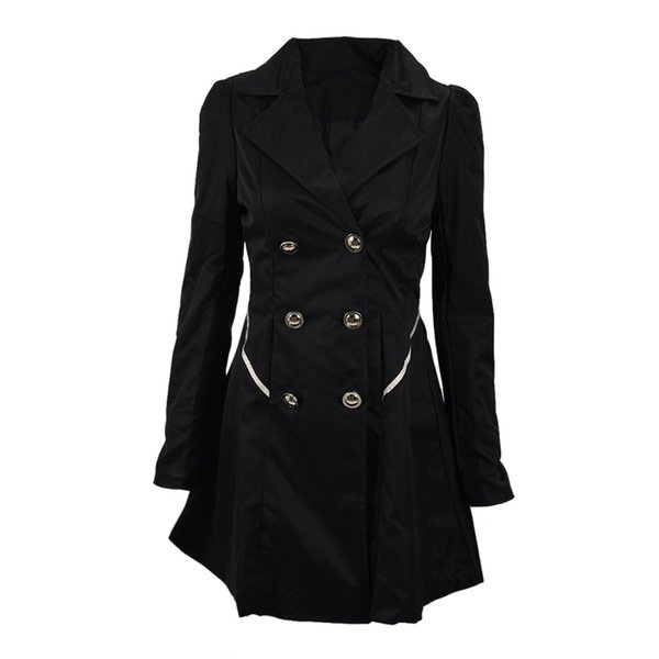 Slim Long Sleeve Solid Color Jacket Women's Coats For Spring Autumn Double-breasted Dresses Casual Wind Jacket