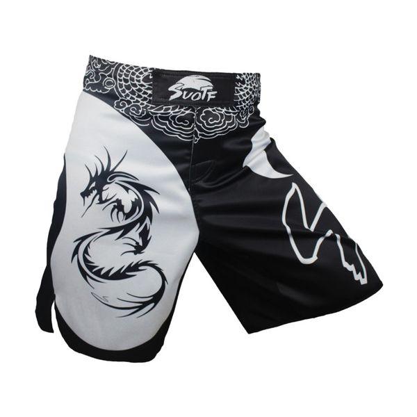 MMA black boxing dragon cotton loose size training kickboxing shorts muay thai shorts cheap mma shorts boxeo