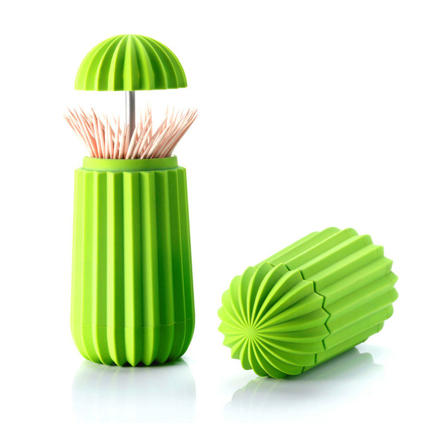 Creative Cactus Toothpick Holder Fashion Personalized Hand Pressure Automatic Toothpick Box Home Decoration Plastic Households Party Favor