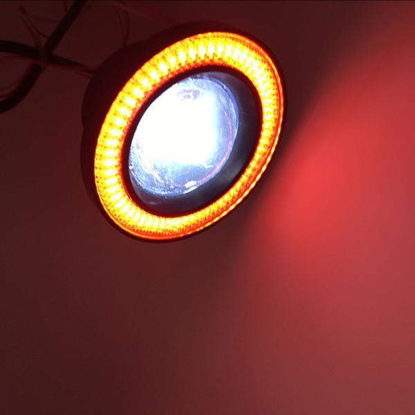 Алюминий 30W светодиодные автомобилей противотуманные фары с Ангел глаз кольца удара ксеноновые внедорожник ATV внедорожных авто пятно света головной лампы ДРЛ