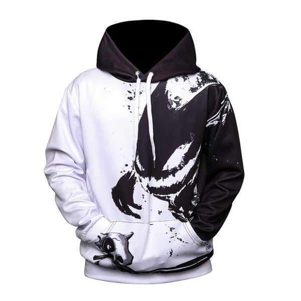 Winter Autumn Warm Paint Fashion Cool Stylish 3D Print Sweatshirts Tracksuits Pullovers Hood