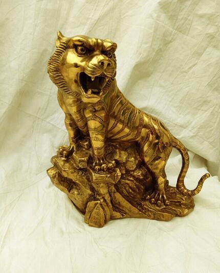 Un tigre de cuivre porte-bijoux ornements Zodiac tiger mountain Ameublement cadeau cadeaux d'affaires de F