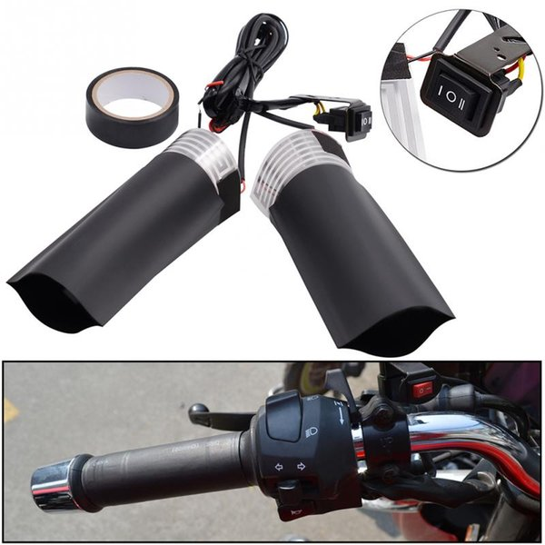 12V Heated Grips Inserts Handlebar Hand Warmers Fits Universal Grip Motorcycle