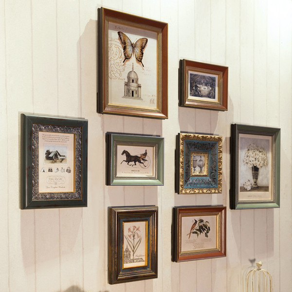 71ee44d1b29 Top Quality Brand 8 pcs set Wooden Vintage Photo Frame Sets for Family Baby  Love