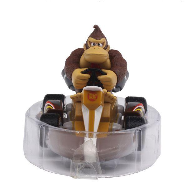 2018 New 7 Styles Super Mario Bros. Mario Pull Back Kart Racer Car Donkey Kong Luigi Yoshi Toad Princess Action Figures Toy for Kids Gift