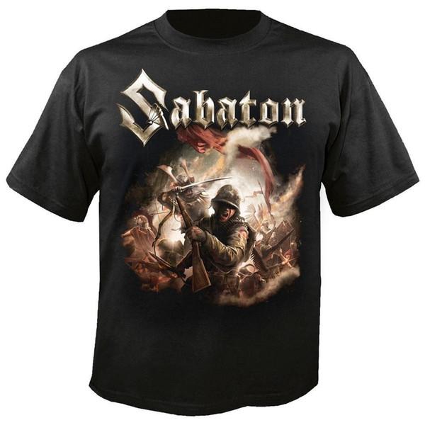 Screen Printing T Shirts Okoufen Create T Shirt Men'S Crew Neck Short Sleeve Office Sabaton T Novelty Men Short O-Neck Tees