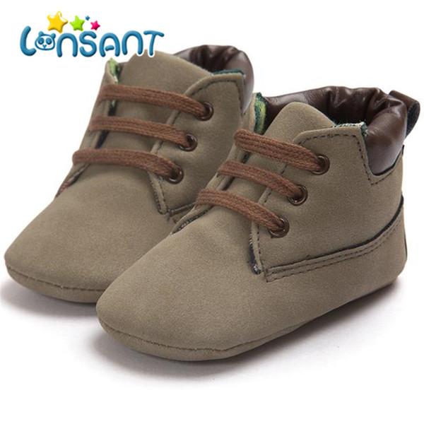 74134806f LONSANT bebê menino menina criança sola macia novo 2018 marrom sapatos de  couro infantil menino menina