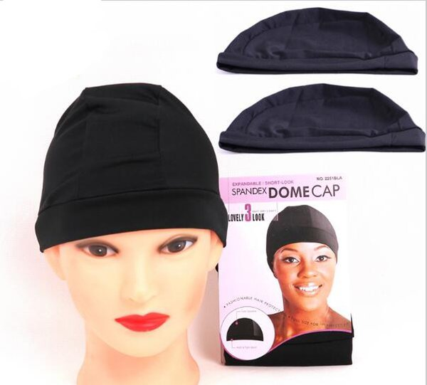 Cheap weaving caps spandex dome wig cap for making wigs black weave cap invisible hair net nylon stretch wig net cap 1pieces
