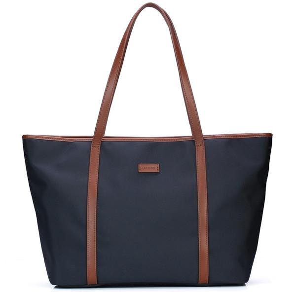 Let it be women spacious travel tote waterproof oxford nylon shoulder bag 17 inch laptop handbags office school totes bags
